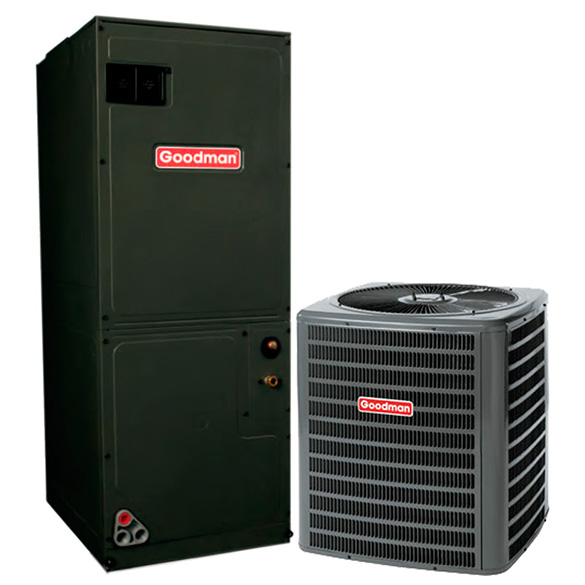 3 Ton Goodman 14 SEER Central Air Conditioner Heat Pump System HCGMC1047