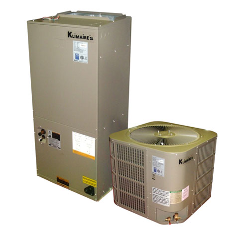 2 5 ton klimaire 16 seer central ducted air conditioner for 2 ton window ac power consumption