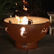 Kokopelli Outdoor Gas Fire Pit with Electronic Ignition