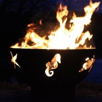 Sea Creatures Outdoor Gas Fire Pit