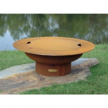 Saturn Wood Burning Fire Pit With Lid