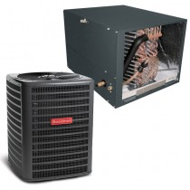 1.5 Ton Goodman 14.5 SEER Condenser GSX160181 and Cased Coil CHPF3636B6 Horizontal System with TXV
