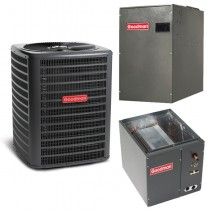 4 Ton Goodman 15 SEER 2 Stage Variable Speed Central Air Conditioner Heat Pump Upflow/Downflow System