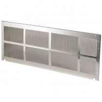 Standard Exterior Stamped Aluminum Grille: Mill Finish